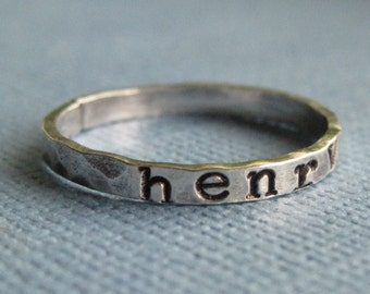 Tiny Personalized Ring