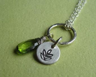 Peridot and fern Necklace
