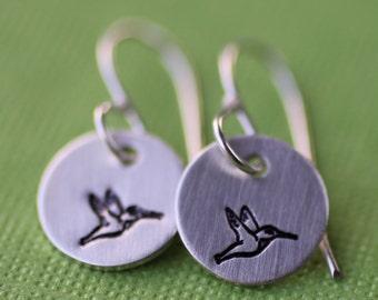 Tiny Hummingbird Earrings