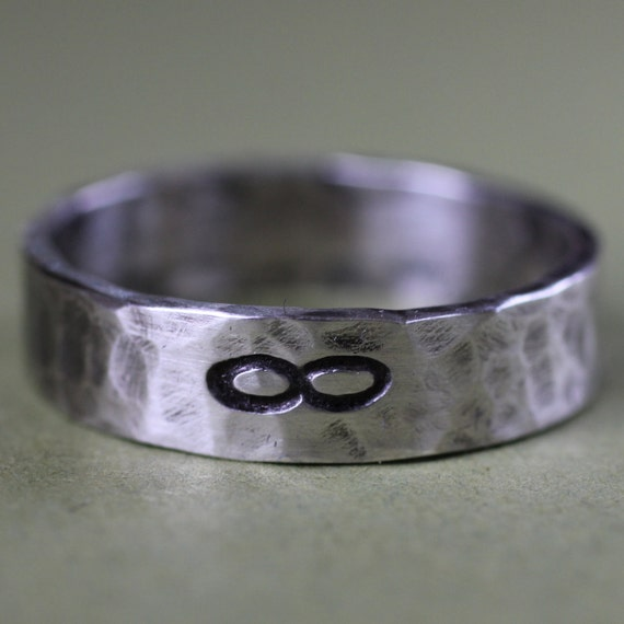Sterling Silver Hand Stamped Personalized Ring for Men or Women