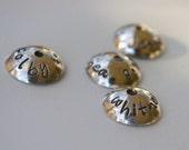 Custom Hand Stamped Sterling Bead Cap