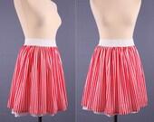 Summer Mini Skirt / Candy Striped Circus / Festive Skirt / M