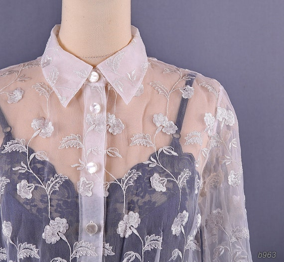 So Fabulous Diamante Embellished Sheer Blouse 92