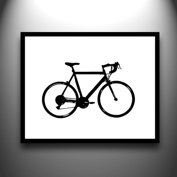 Bicycle Silhouette Framed 8x10 hand-cut paper art