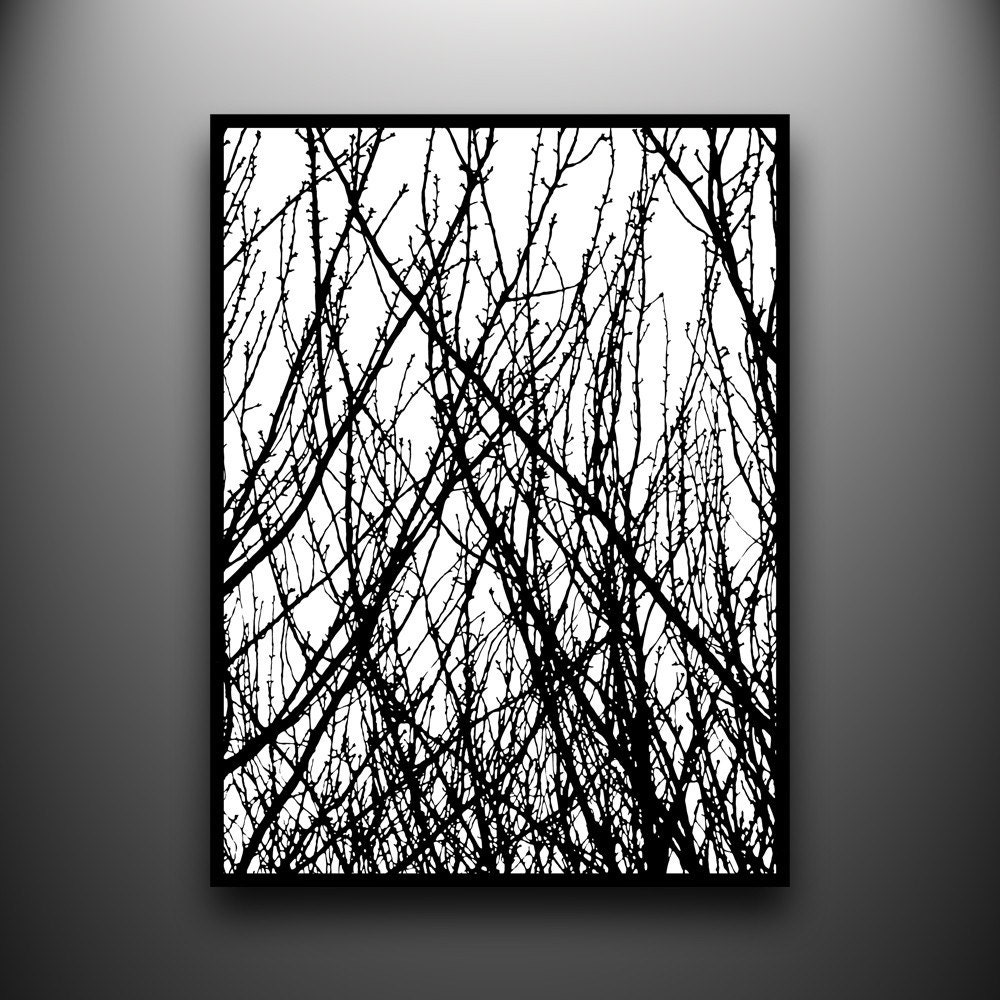 Branches 1 18x24 Hand Cut Paper Art Framed And One Of A Kind