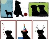 SIX PACK - Illustrated DOG Cards - All Original Illustrations Greeting Cards