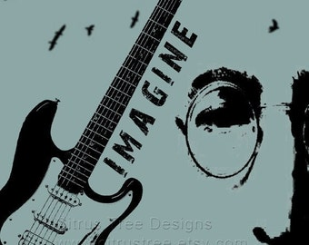 IMAGINE - Original Illustration Fine Art Print - Signed and Dated --Buy 2 Get 1 Free