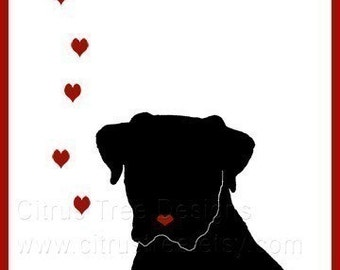 I LOVE YOU DOGGIE  - Original Illustration Greeting Card