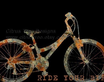 RIDE YOUR BIKE - Original Illustration Fine Art Print - Signed and Dated --Buy 2 Get 1 Free-