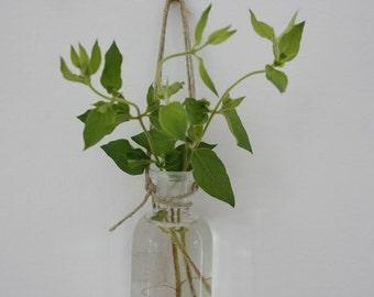 Vintage Bottles Set of 3 Small Clear Glass Bottles - bottle - glass - vintage - antique - Foss - Portland - Drink - Collectible  bud vase