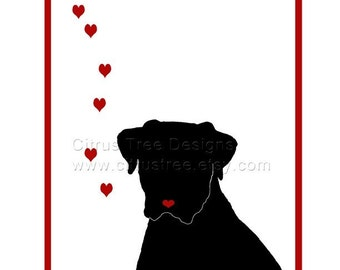 MUST LOVE DOGS Print - Original Illustration Fine Art Print - Signed and Dated Giclee Print, Wall Art, Dog Art,