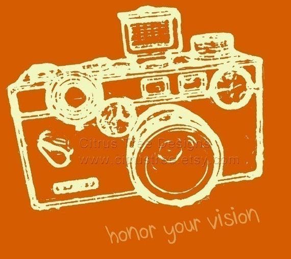 VINTAGE ARGUS (Orange) Honor Your Vision - Original Illustration Fine Art Print - Signed and Dated