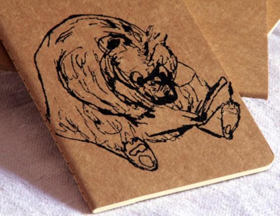 Bears and Books - Moleskine Cahier Kraft Notebook - Journal - Blank - Moleskin