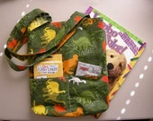 Fabric Tote with Coloring Book, Color box and Flashcards