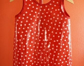 Don't Get Your Clothes Dirty Smock-  Large -Red and White Polka Dots