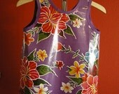Don't Get Your Clothes Dirty Smock - Large- Purple with Flowers