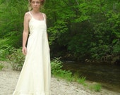 Sweet N Simple Hemp ORganic Cotton Wedding  Dress MadE To ORder