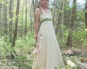 Hemp organic Cotton Forest PIxie Wedding dress  Made TO ORDER