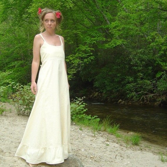 Items similar to sweet n simple hemp organic cotton for Simple cotton wedding dress