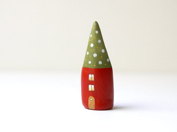 Little Home No 125 - little decorative clay house