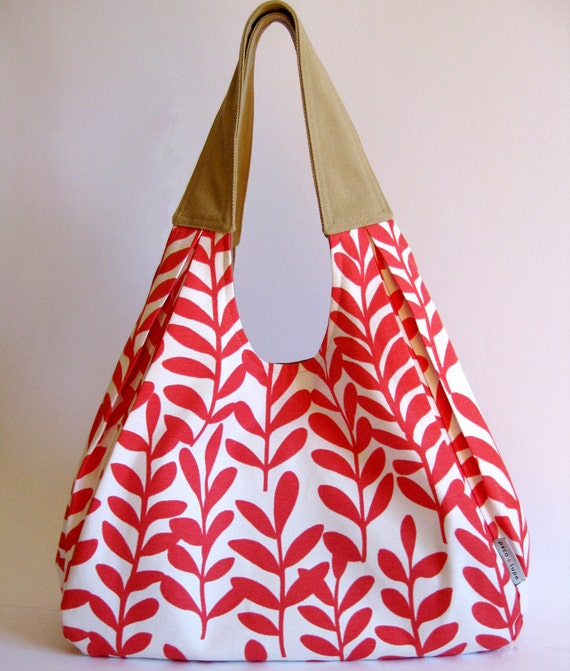 Strawberry Sorbet slouchy boho cotton bag LAST ONE