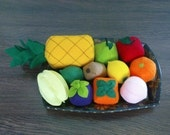 SALE - Felt Fruits LOT - 15 Different Fruits Patterns (Patterns and Instructions via Email)