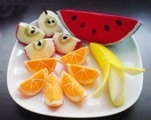 Felt Fruit Slices (Patterns and Instructions via Email)