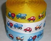 Cars, Bus, Trucks, Vehicles Grosgrain Ribbon You choose the color