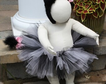 Custom Made Black and Pink Kitty Cat Costume for Halloween - You choose the size