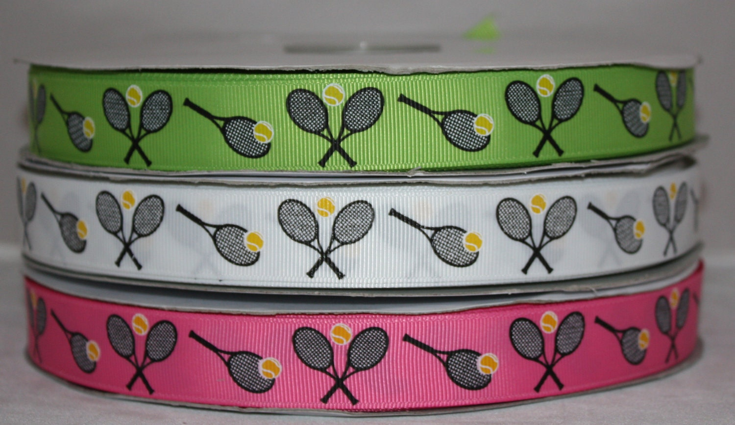 Tennis Sports Team Racket Ball Grosgrain Ribbon For Hairbows 3