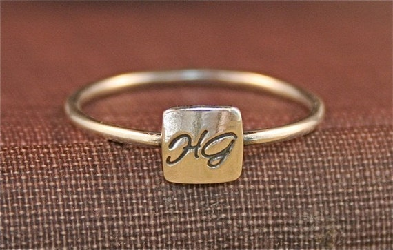 Tiny Signet Ring - Personalized