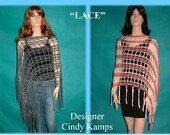 LACE Asymmetrical Poncho Pattern by Cindy Kamps