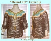 MESHED UP COVERUP Crochet Beachwear Pattern by Cindy Kamps