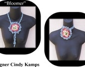Flower Bolo Choker Pin Crochet Pattern