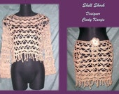 SHELL SHOCK Beach Skirt and Top Crochet Pattern by Cindy Kamps