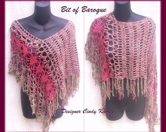 Bit of Baroque PONCHO Crochet Pattern by Cindy Kamps