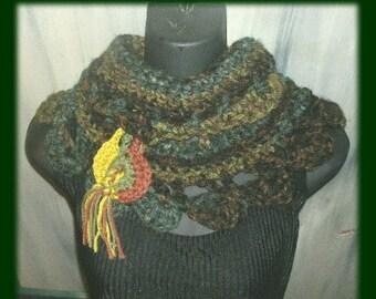 Deep Woods Crochet Cowl pattern