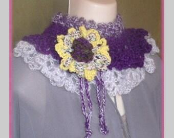 Ruffled Cowl Crochet Pattern
