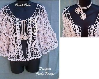 BEACH BABE Crochet Jacket Pattern by Cindy Kamps