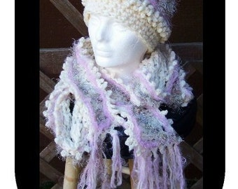Alpine LONG Scarf and Hat Crochet Pattern