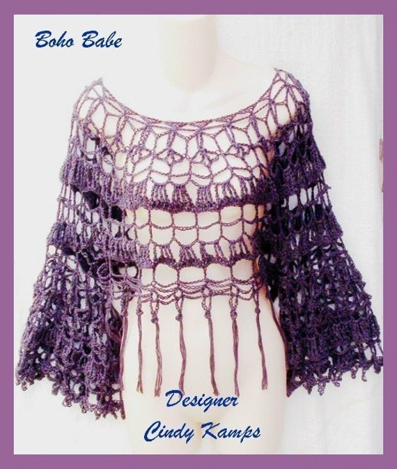 Boho Crochet Patterns : Boho Babe Top Crochet Pattern by crochetbayboutique on Etsy