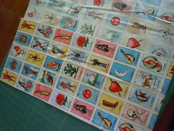 Alexander Henry - OOP - Loteria card - cotton fabric - unwashed