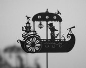 A Dream Steamboat / Laser-cut Shadow Puppet