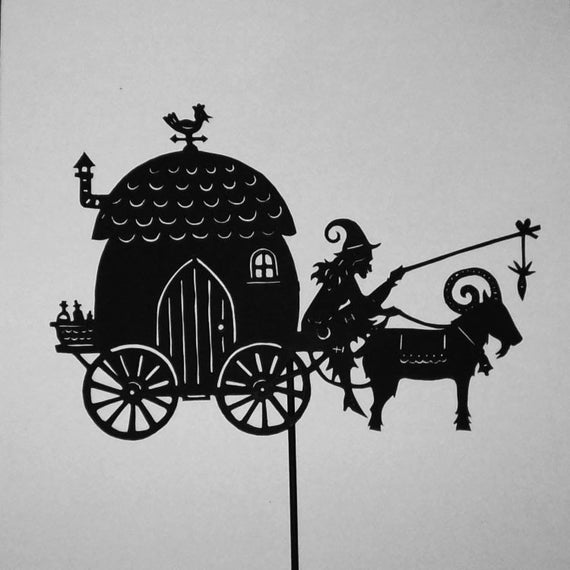 The witch's caravan/ Laser cut Shadow Puppet