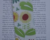 Funky Flowers laminated bookmark