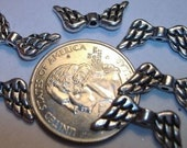 Silver Plate Metal ANGEL\/EAGLE Wing Spacer Beads