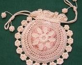 Rings and Roses Irish Crochet Purse Pattern PDF Download