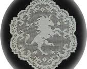 Fantasy Realm Afghans, Proud Dragon Lapghan and Unicorn Enchantress Baby Blanket PDF Digital Download