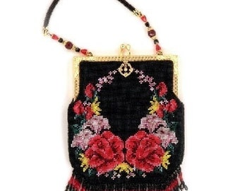 Reflections ( Crocheted Beaded Purse Pattern ) PDF Digital Download