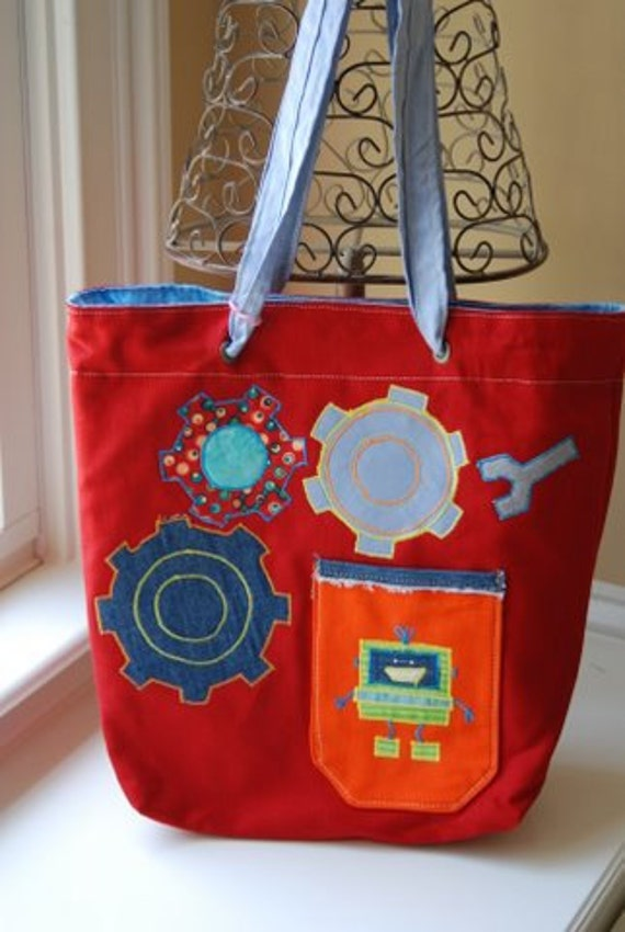 Busy little Robot Tote